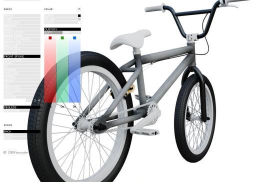 Customize a cor da sua bike